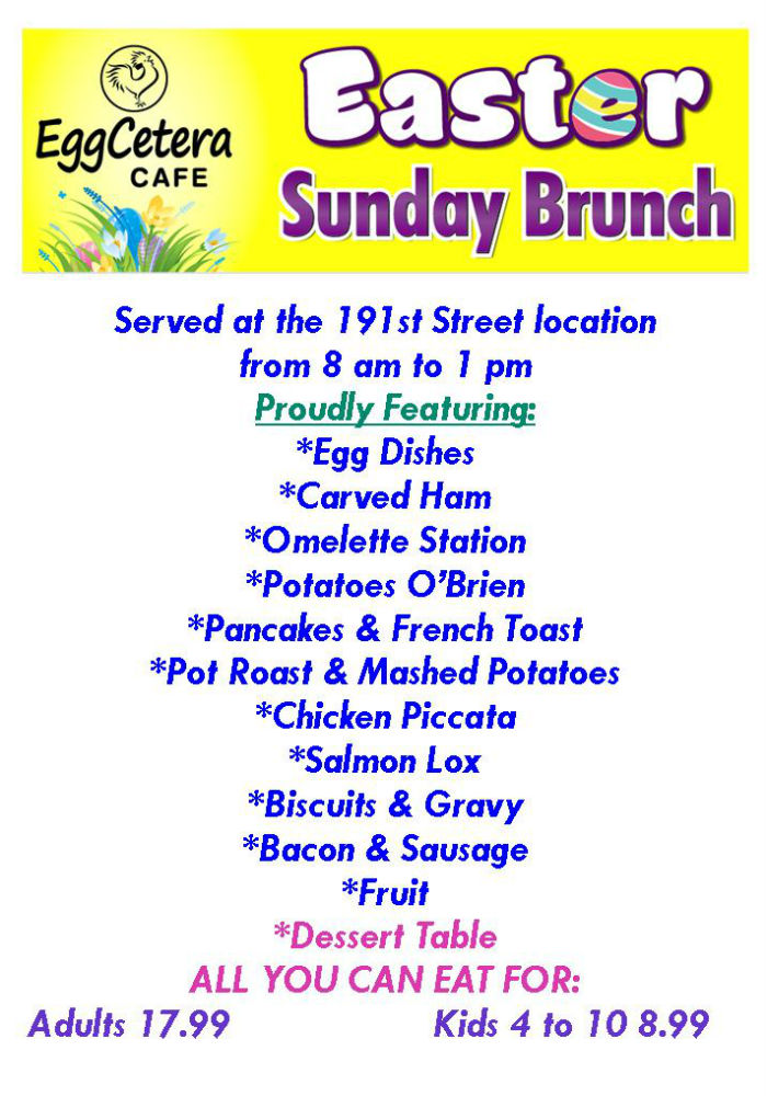 EggCetera Cafe - Easter Brunch